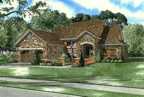 Tuscan Style House Plans Plan: 12-877
