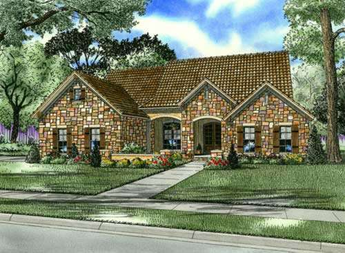 Tuscan Style Floor Plans Plan: 12-878