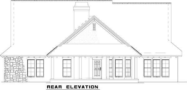 Rear Elevation Plan: 12-878