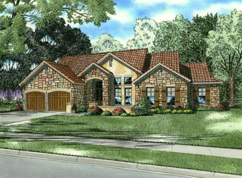 Tuscan Style Floor Plans Plan: 12-879