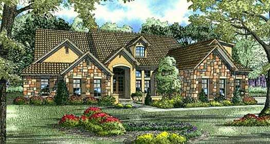 Tuscan Style Floor Plans Plan: 12-881