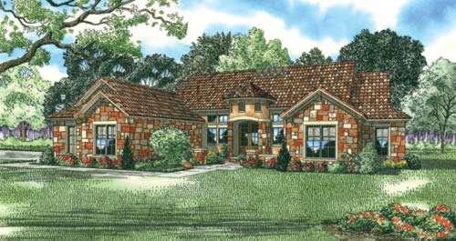 Tuscan Style Home Design Plan: 12-882