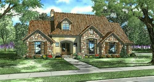 Tuscan Style Floor Plans Plan: 12-883