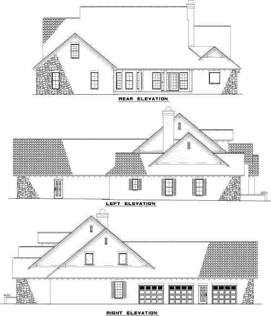 Rear Elevation Plan: 12-883