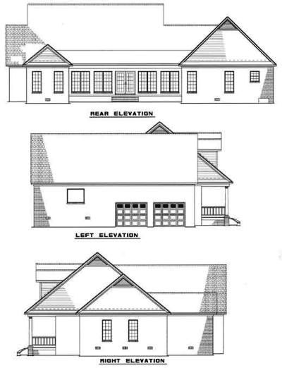 Rear Elevation Plan: 12-884