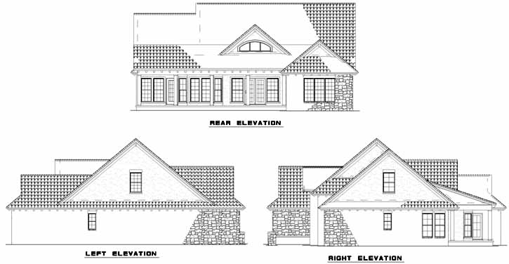 Rear Elevation Plan: 12-885