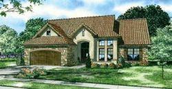 Tuscan Style Home Design Plan: 12-885