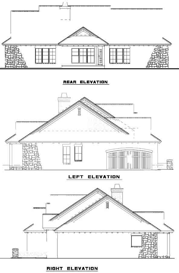 Rear Elevation Plan: 12-886