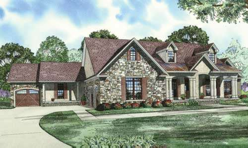 English-country Style Floor Plans Plan: 12-889