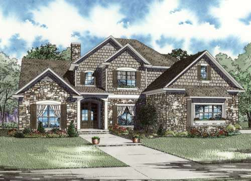 European Style House Plans 12-896