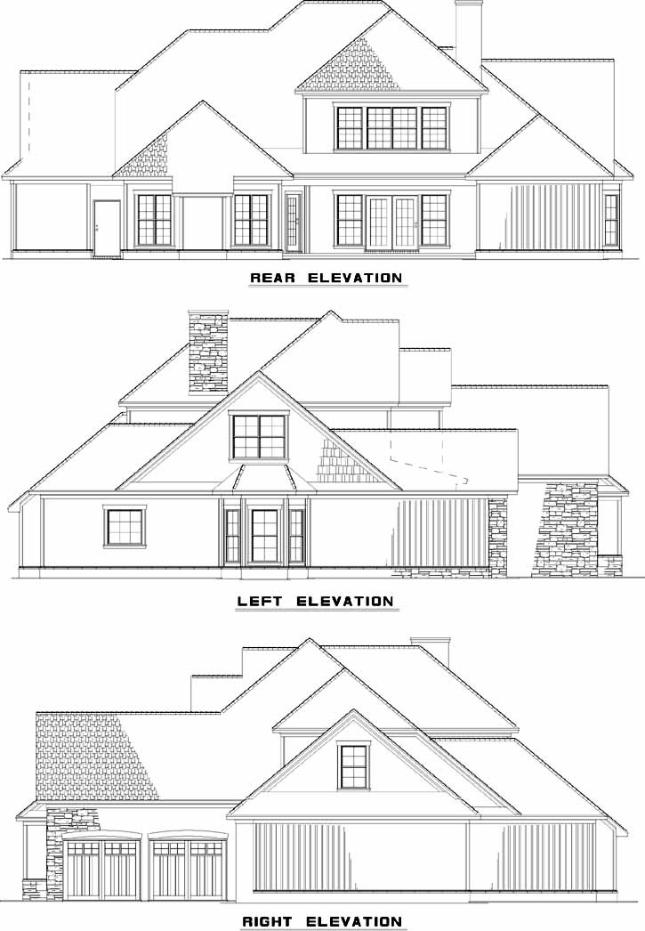 Rear Elevation Plan: 12-896