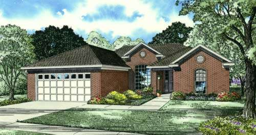Traditional Style Home Design Plan: 12-897