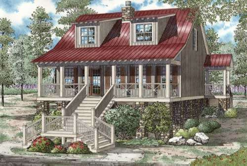 Mountain-or-rustic Style House Plans Plan: 12-898
