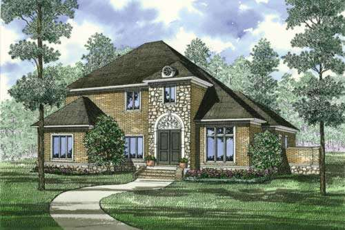 European Style House Plans Plan: 12-899