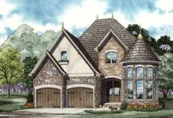 European Style House Plans Plan: 12-901