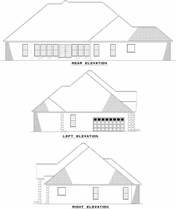 Rear Elevation Plan: 12-902