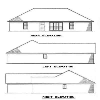 Rear Elevation Plan: 12-987