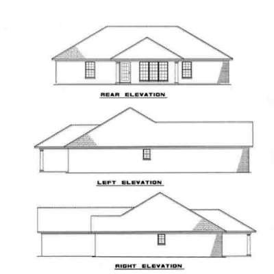 Rear Elevation Plan: 12-988