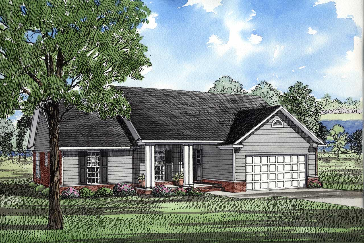 Ranch Style Home Design Plan: 12-994