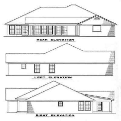Rear Elevation Plan: 12-995