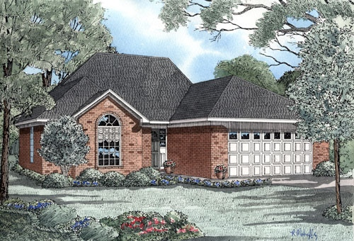 Traditional Style Home Design Plan: 12-996