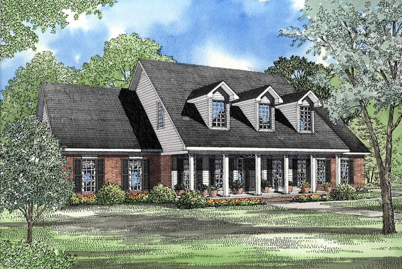Country Style Floor Plans Plan: 12-998