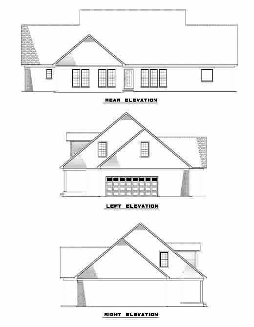 Rear Elevation Plan: 12-998