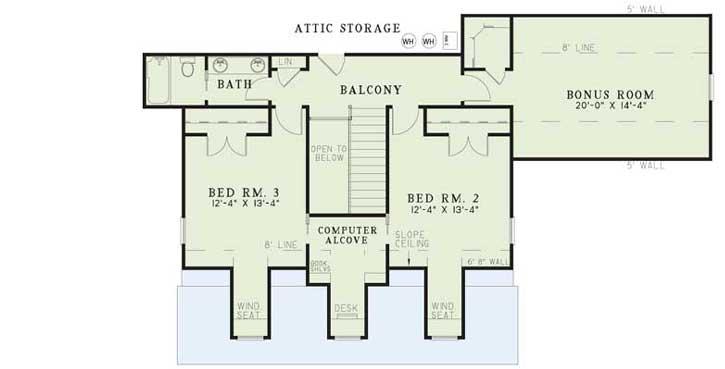 Upper/Second Floor Plan: 12-998