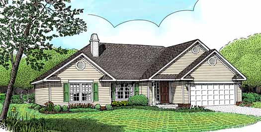 Traditional Style Home Design Plan: 13-102