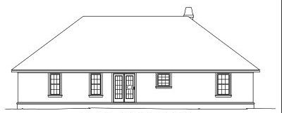 Rear Elevation Plan: 13-102
