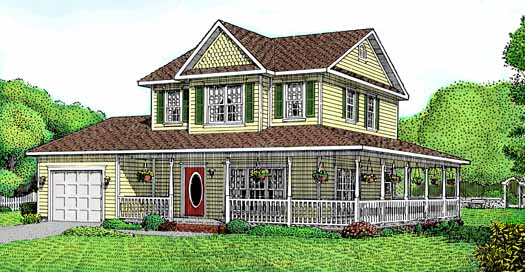 Country Style House Plans Plan: 13-103