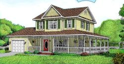Country Style Home Design Plan: 13-103