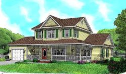 Country Style Home Design Plan: 13-110