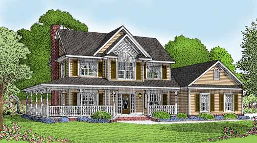 Country Style Floor Plans Plan: 13-111