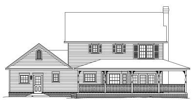 Rear Elevation Plan: 13-111