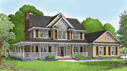 Country Style Home Design Plan: 13-111