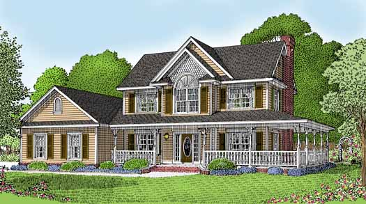 Country Style Home Design Plan: 13-112