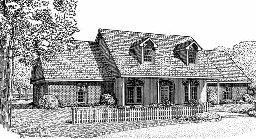 Country Style House Plans Plan: 13-113