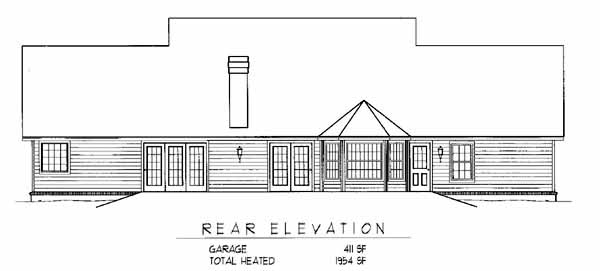 Rear Elevation Plan: 13-115