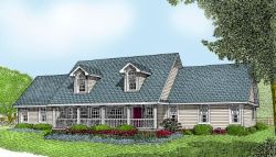 Country Style House Plans Plan: 13-115