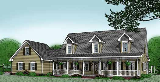 Country Style House Plans Plan: 13-118