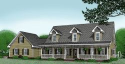 Country Style Home Design Plan: 13-118