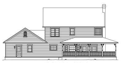 Rear Elevation Plan: 13-119