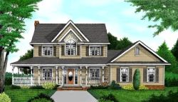 Country Style Floor Plans Plan: 13-119