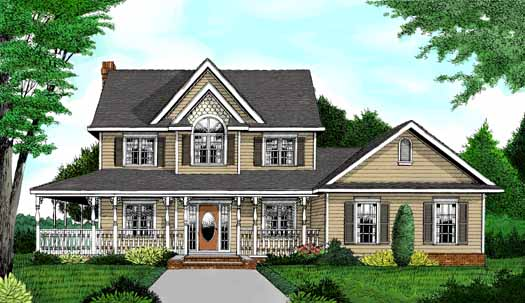Country Style Floor Plans Plan: 13-120