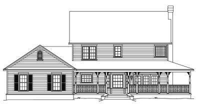 Rear Elevation Plan: 13-120