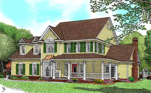 Country Style Floor Plans Plan: 13-122