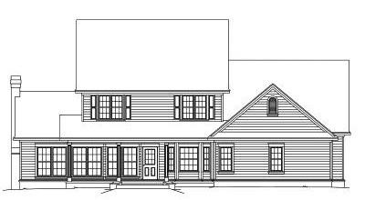 Rear Elevation Plan: 13-122