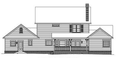 Rear Elevation Plan: 13-123