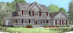 Country Style Home Design Plan: 13-123